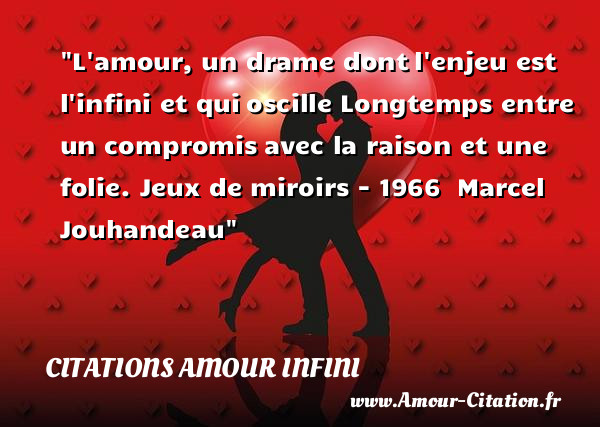 citation amour a l'infini