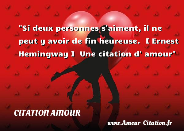 si deux personnes s 39 aiment amour citation amour po me amour citation amour proverbes amour. Black Bedroom Furniture Sets. Home Design Ideas